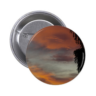 Cloudy waves 6 cm round badge
