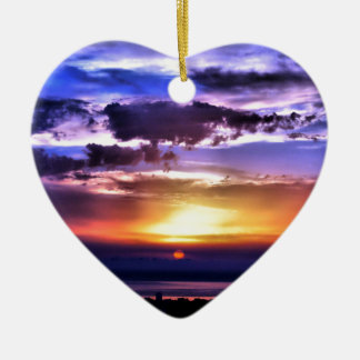 Clours Sunrise Christmas Ornament