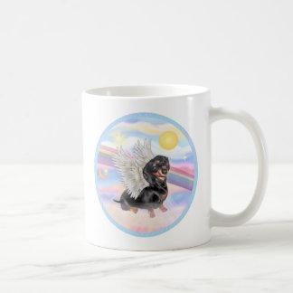 Clous - Dachshund Angel (black/tan) Coffee Mug