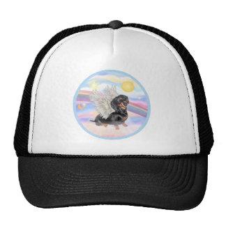 Clous - Dachshund Angel (black/tan) Mesh Hats