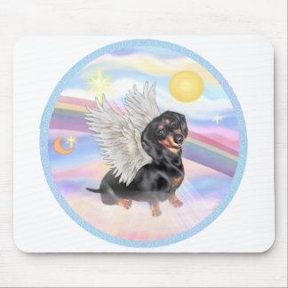 Clous - Dachshund Angel (black/tan) Mouse Pads