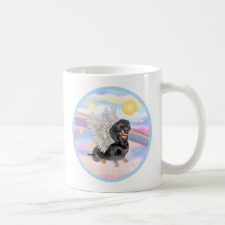 Clous - Dachshund Angel (black/tan) Coffee Mugs