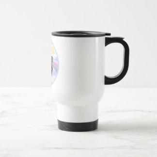 Clous - Dachshund Angel (black/tan) Stainless Steel Travel Mug