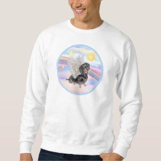 Clous - Dachshund Angel (black/tan) Pullover Sweatshirt