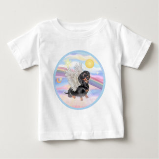 Clous - Dachshund Angel (black/tan) Tshirt