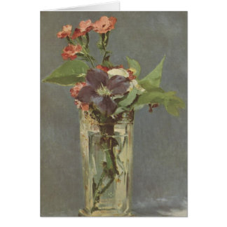 Clove and clematis in a crystal vase - Manet Card