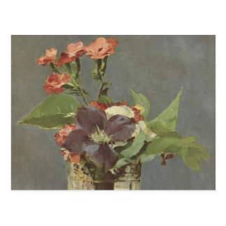 Clove and clematis in a crystal vase - Manet Postcard