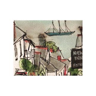 Clovelly, Devon. A Print on Canvas