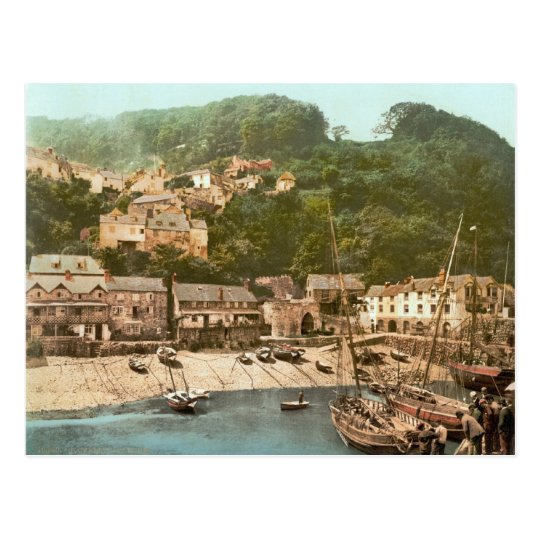Clovelly Harbour, Torridge, Devon, c.1895 Postcard