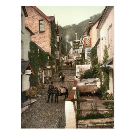 Clovelly, North Devon, England c.1895 Postcard