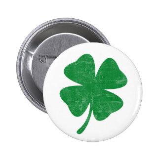 Clover 6 Cm Round Badge