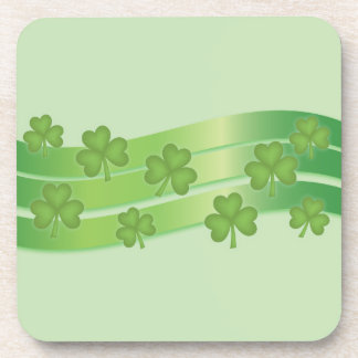 Clover And Green Stripes Coaster