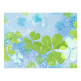 clover design postcard
