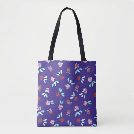 Clover Flowers All-Over Printed Medium Tote Bag