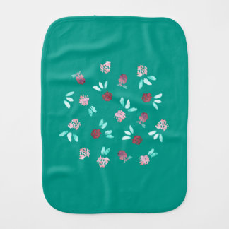 Clover Flowers Burp Cloth