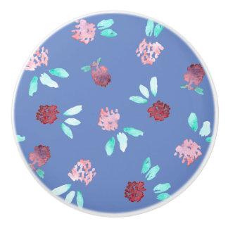 Clover Flowers Ceramic Knob