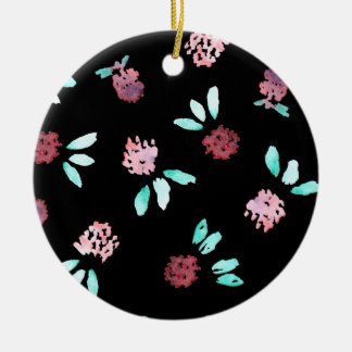 Clover Flowers Circle Ornament