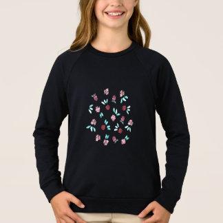 Clover Flowers Girls' Raglan Sweatshirt