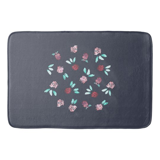 Clover Flowers Large Bath Mat