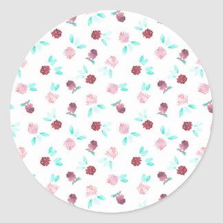 Clover Flowers Large Glossy Round Sticker