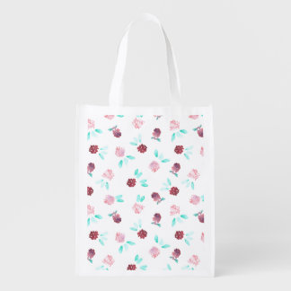 Clover Flowers Reusable Bag