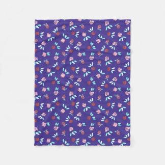 Clover Flowers Small Fleece Blanket