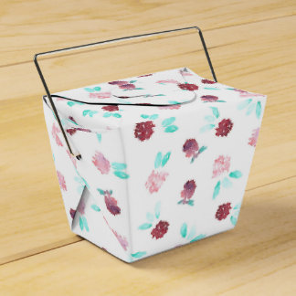 Clover Flowers Take Out Favor Box