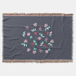 Clover Flowers Throw Blanket