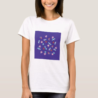 Clover Flowers Women's Basic T-Shirt