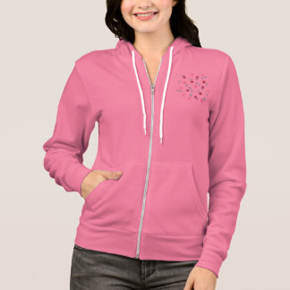 Clover Flowers Women's Full-Zip Hoodie