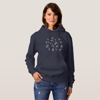 Clover Flowers Women's Hooded Sweatshirt