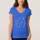Clover Flowers Women's Jersey V-Neck T-Shirt