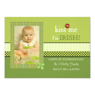 Clover Frame St. Patrick's Day Photo Card 13 Cm X 18 Cm Invitation Card
