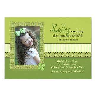 Clover Frame St. Patrick's Day Photo Invitation