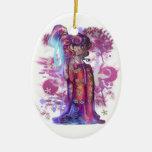 Clover Geisha Oval Ornament