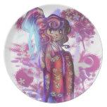 Clover Geisha Plate