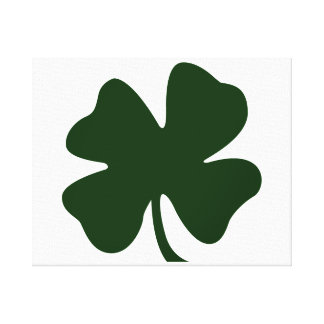 clover green blob st pat day irish.png stretched canvas print