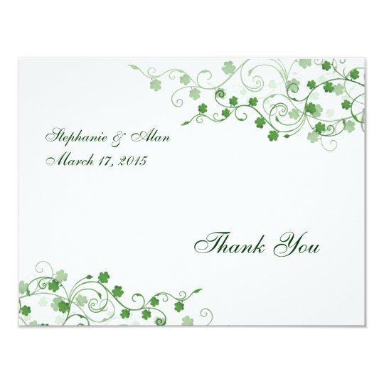 Clover Irish Thank You Card
