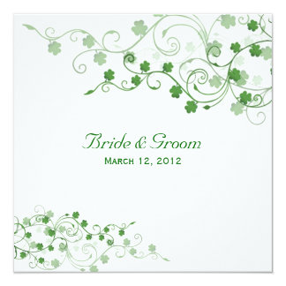 Clover Irish Wedding Invitation