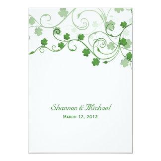 Clover Irish Wedding Invitation