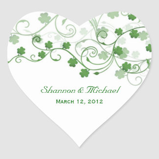 Clover Irish Wedding Stickers