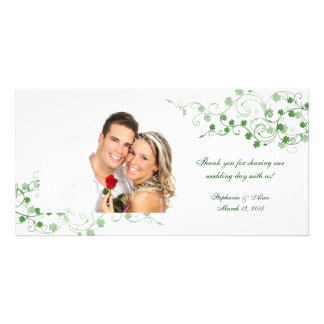 Clover Irish Wedding Thank You Photo Cards