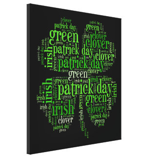 Clover leaf gallery wrapped canvas