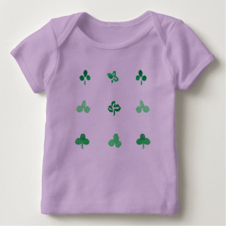 Clover Leaves Baby Lap T-Shirt