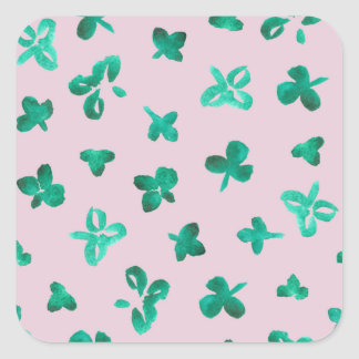 Clover Leaves Matte Large Square Sticker