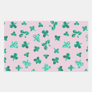 Clover Leaves Matte Rectangle Sticker