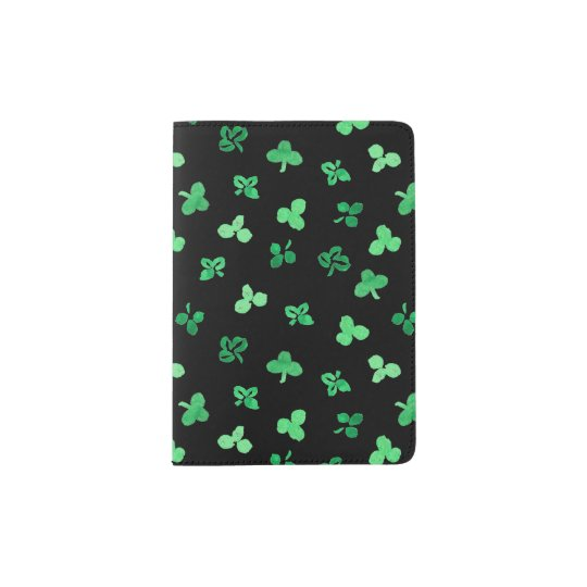 Clover Leaves Passport Holder