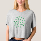 Clover Leaves Women's Boxy Crop Top T-Shirt