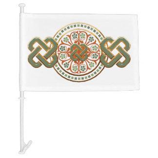Clover Mandala Car Flag