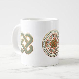 Clover Mandala 20 Oz Large Ceramic Coffee Mug